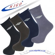 Bamboo NO stress! ankle socks, Reinforce Heel and Toe, Pack of three pairs (Black/brown/navy), (Black, Brown, Gray)