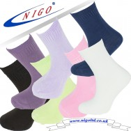 Bamboo children socks, Pack of one pairs (neon green, white, purple, lilac, yellow, pink, brown).