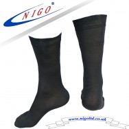 Office and Suit MEN'S, Mercerized Cotton Socks, Reinforce Heel and Toe, Pack of one pairs (black)