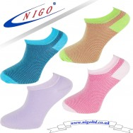 Women's - cotton multicolored sneakers socks, Reinforce Heel and Toe, Pack of two pairs (lilac, blue) (green, pink)