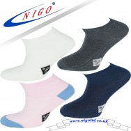 Women's - NO stress cotton sneakers socks, Reinforce Heel and Toe, Pack of two pairs (white, pink) (navy, anthracite)