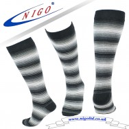 Women's - Cotton Knee High Striped Socks, Reinforce Heel and Toe, Pack of one pairs (striped)