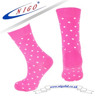 Women's - Cotton Pink Socks, Reinforce Heel and Toe, Pack of one pair (pink)