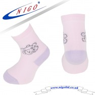Kids sock - Winnie the Pooh, Reinforce Heel and Toe, Pack of one pair (pink)