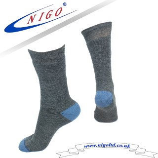 Men's Winter Wool Terry gray and blue